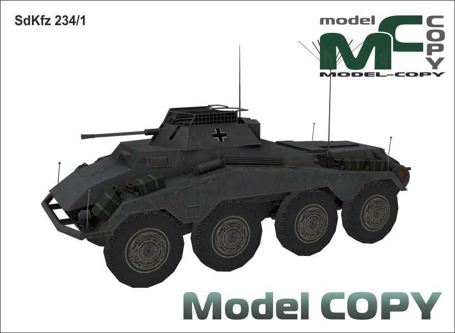 SdKfz 234/1 - 3D Model