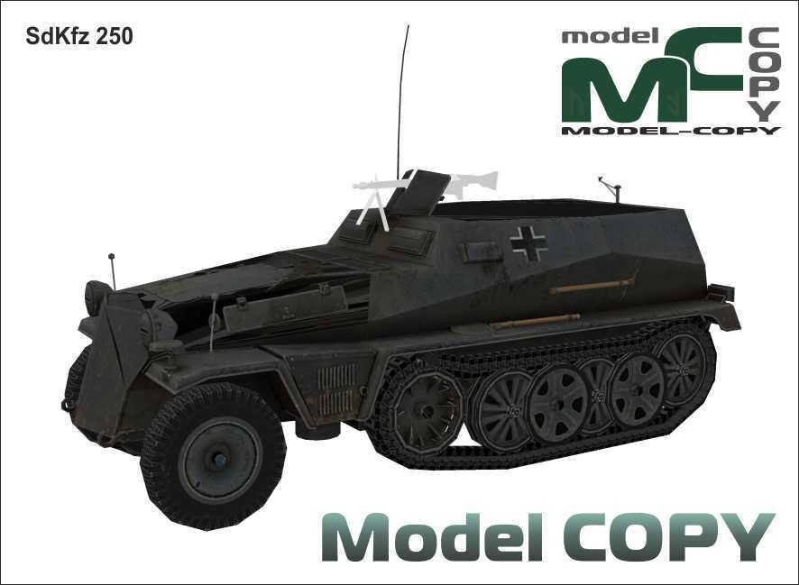 SdKfz 250 - 3Dモデル
