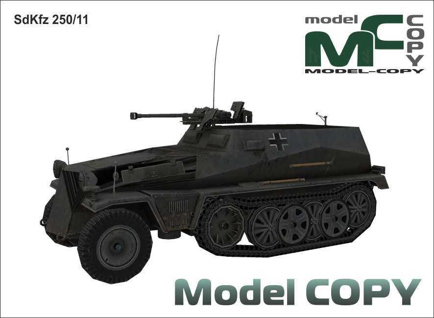 SdKfz 250/11 - 3D Model