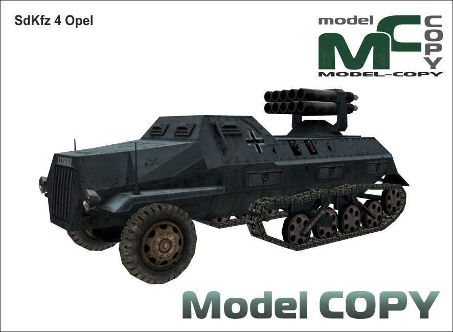 SdKfz 4 Opel - 3Dモデル