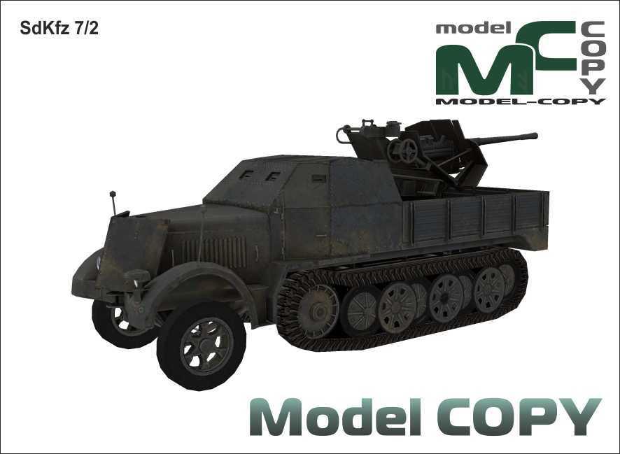 SdKfz 7/2 - Modelo 3D