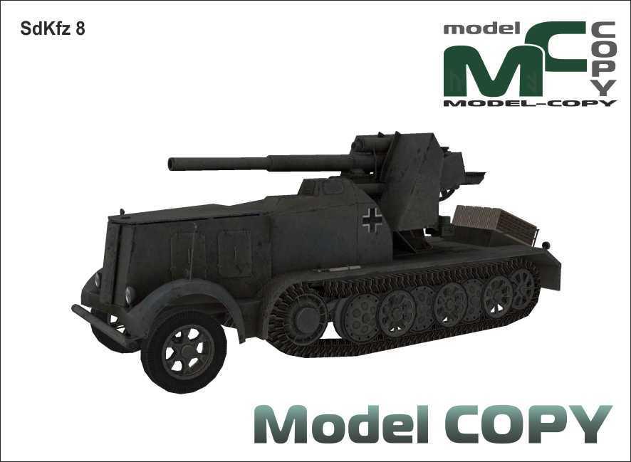 SdKfz 8 - 3Dモデル