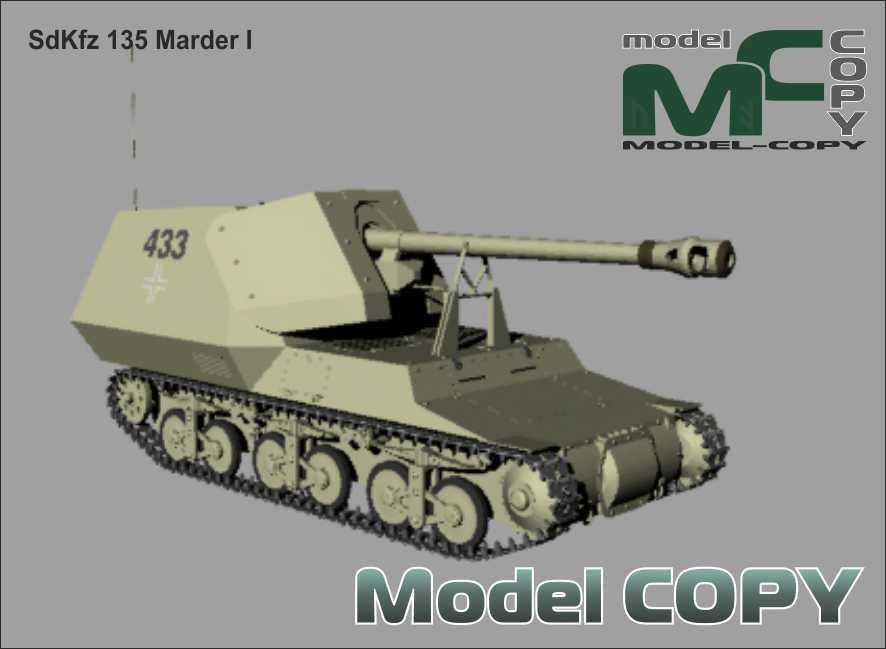 SdKfz 135 Marder I - 3D-модель