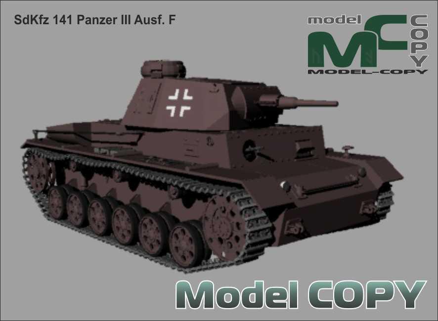 SdKfz 141 Panzer III Ausf. F - 3Dモデル