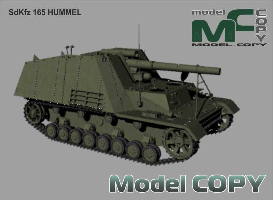 SdKfz 165 HUMMEL - 3Dモデル