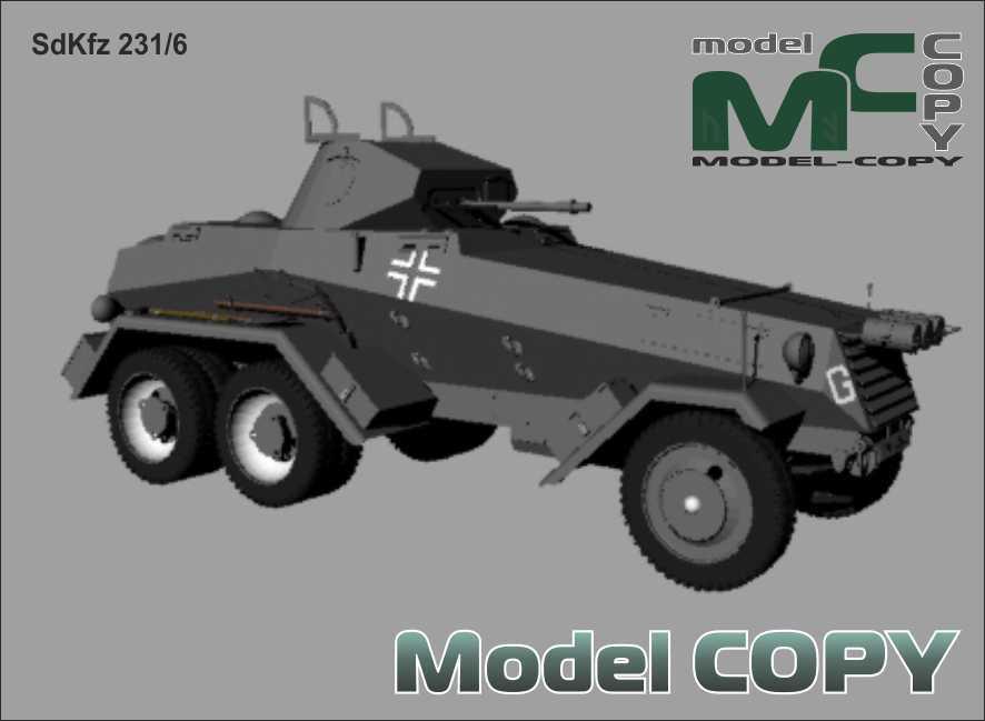 SdKfz 231/6 - 3D Model