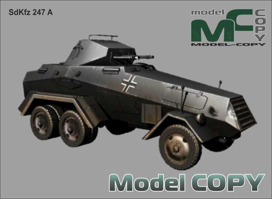SdKfz 247 A - 3D-Modell