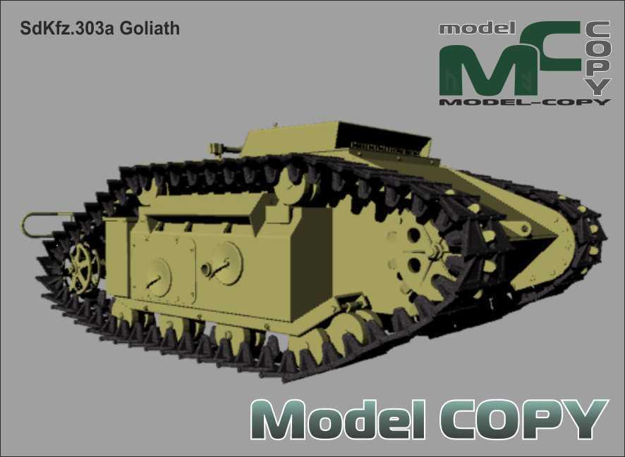 SdKfz 303a Goliath - 3D Model