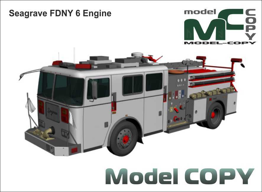 Seagrave FDNY 6 Engine - 3D Model