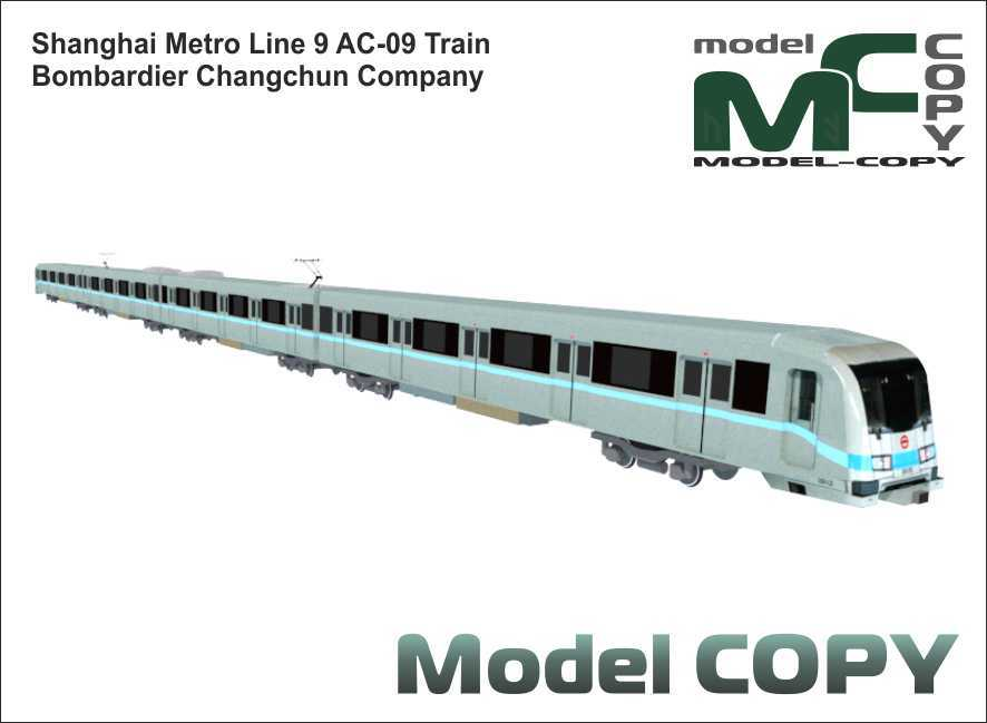 Shanghai Metro Line 9 AC-09 Train - 3D Model
