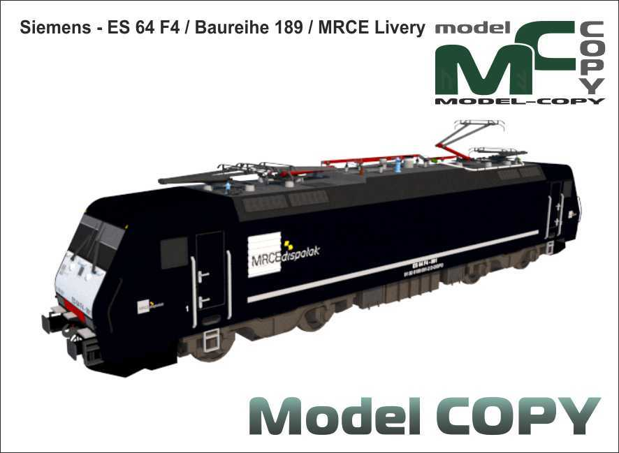 Siemens - ES 64 F4, Baureihe 189, MRCE Livery - 3D Model