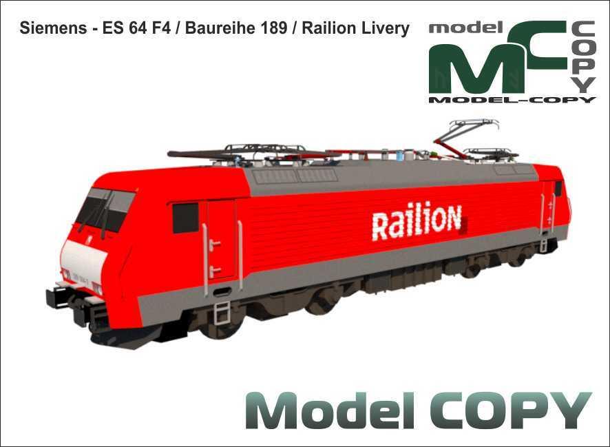 Siemens - ES 64 F4 - Baureihe 189 - Railion Livery - 3D Model