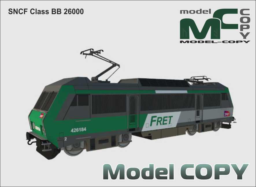 SNCF Class BB 26000 - 3D Model
