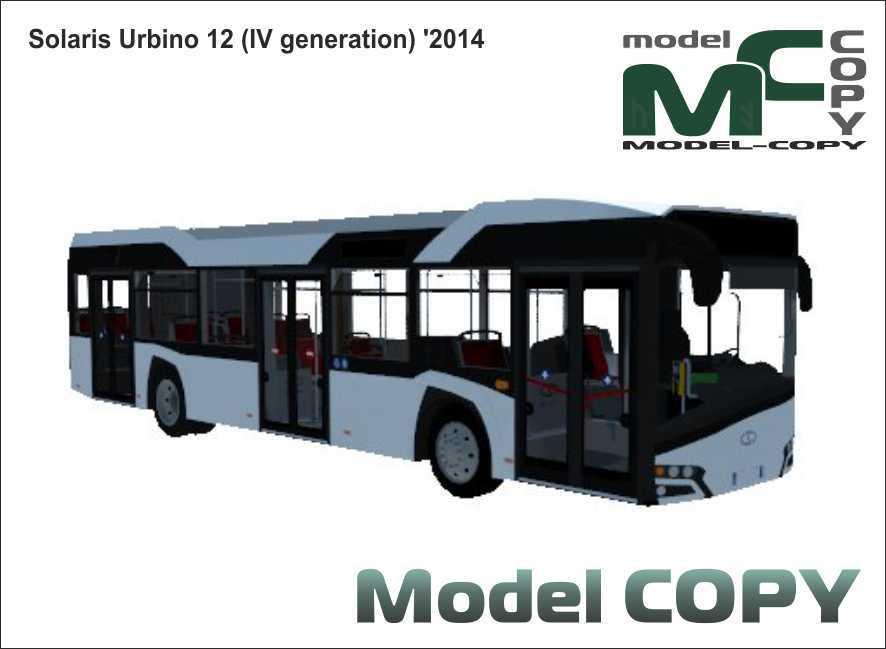 Solaris Urbino 12 (IV generation) '2014 - 3D Model