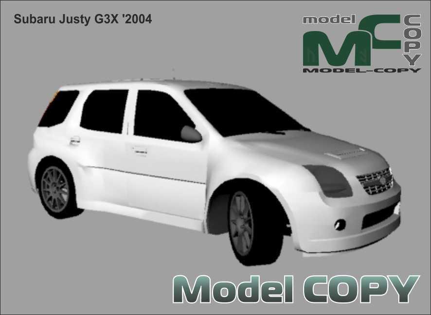 Subaru Justy G3X '2004 - 3D Model