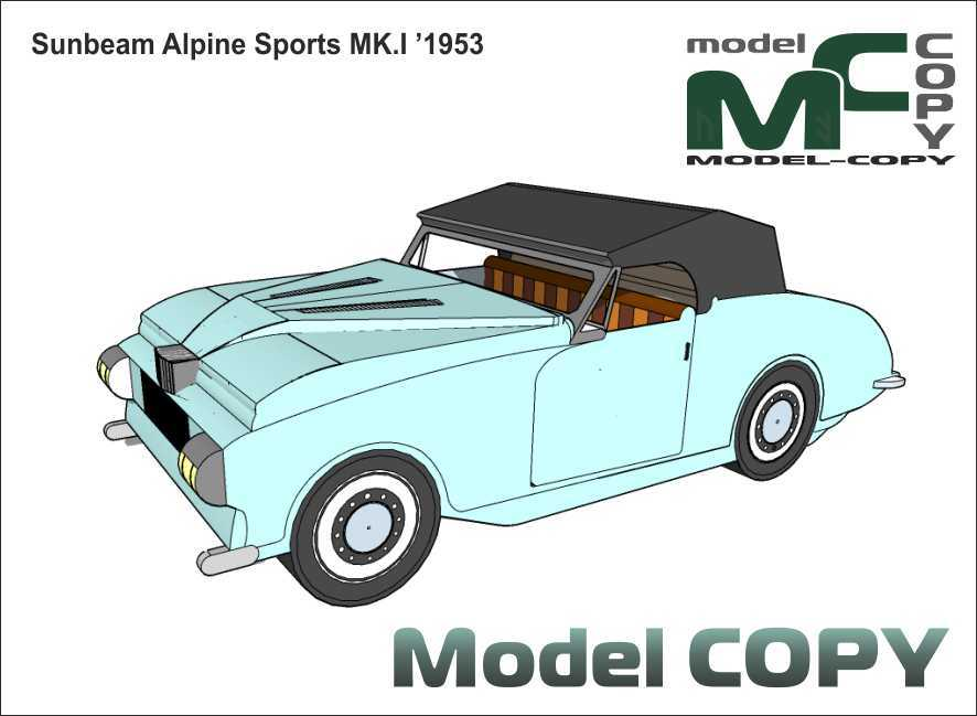 Sunbeam Alpine Sports MK.I '1953 - Modèle 3D