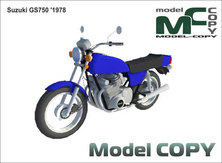 Suzuki GS750 '1978 - 3D Model