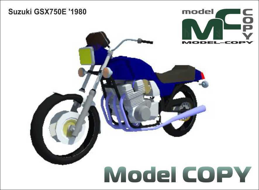 Suzuki GSX750E '1980 - 3D Model
