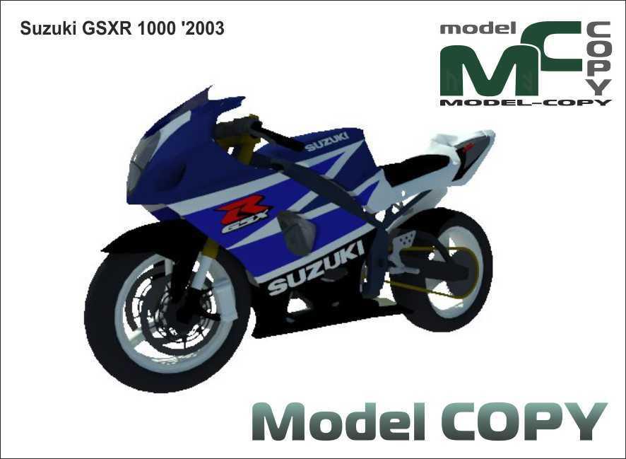 Suzuki GSXR 1000 '2003 - 3D Model