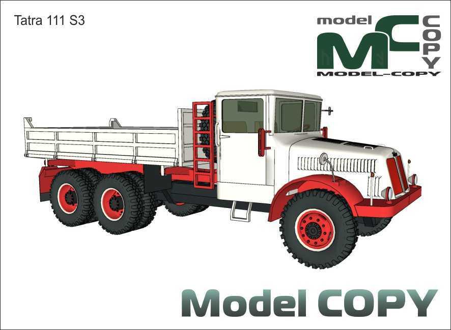 Tatra 111 S3 - mô hình 3D