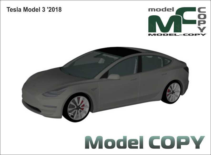 Tesla Model 3 '2018 - 3D Model