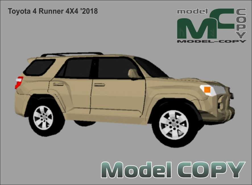 Toyota 4 Runner 4X4 '2018 - 3D Model