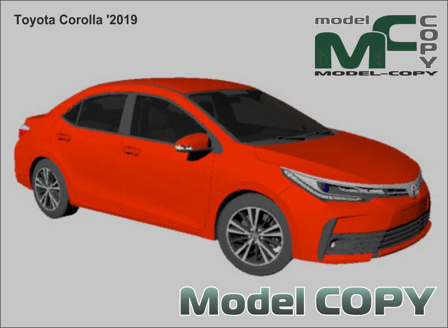 Toyota Corolla '2019 - 3Dモデル