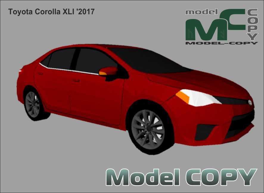 Toyota Corolla XLI '2017 - 3Dモデル