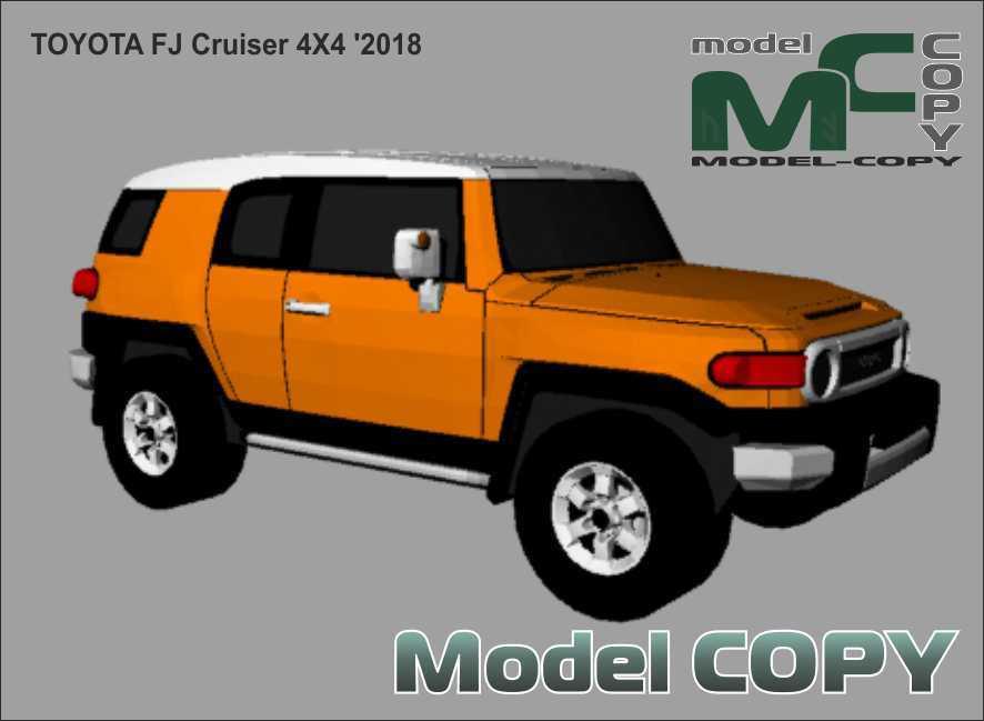 Toyota FJ Cruiser 4X4 '2018 - 3Dモデル