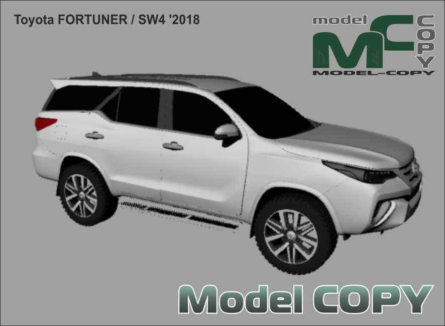 Toyota Fortuner / SW4 '2018 - 3Dモデル