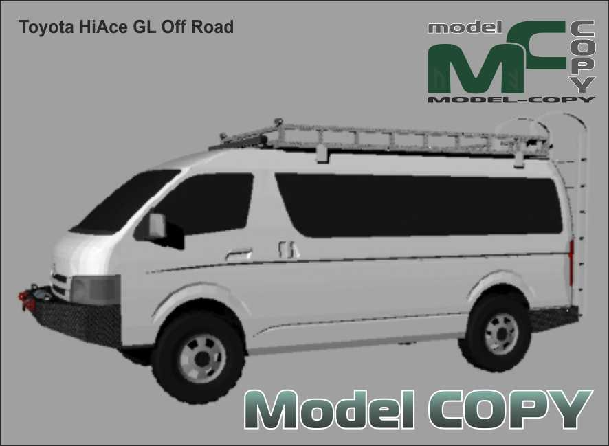 Toyota HiAce GL Off Road - 3D Model