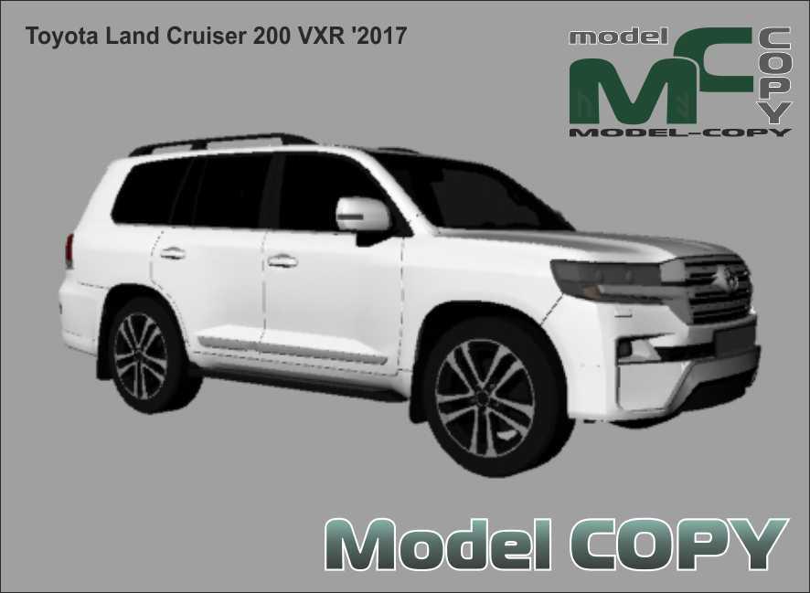 Toyota Land Cruiser 200 VXR '2017 - 3D Model