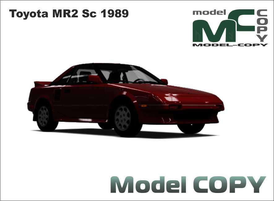 Toyota MR2 Sc 1989 - 3D Model