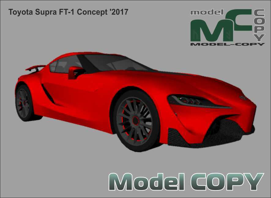 Toyota Supra FT-1 Concept '2017 - 3D Model
