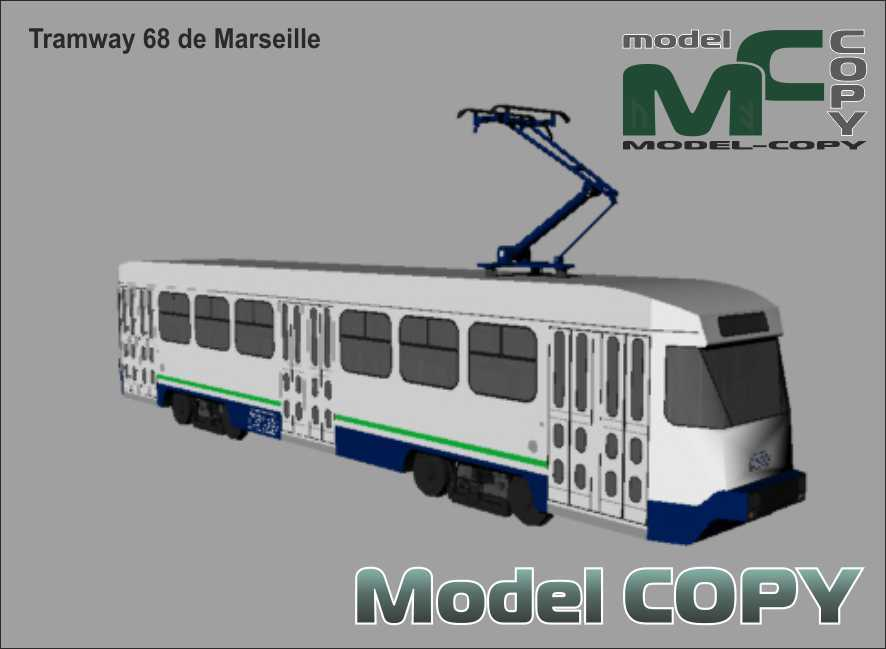 Tramway 68 de Marseille - 3D-модель