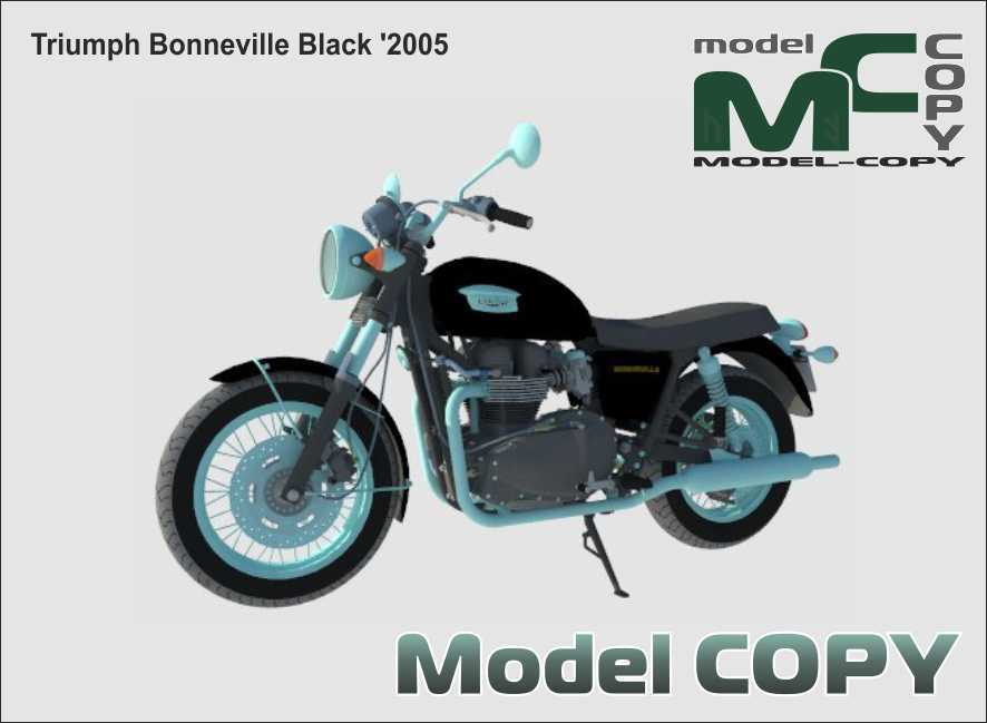 Triumph Bonneville Black '2005 - 3D Model