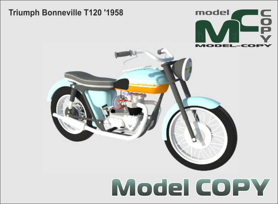 Triumph Bonneville T120 '1958 - 3D Model