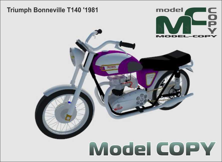 Triumph Bonneville T140 '1981 - 3D Model