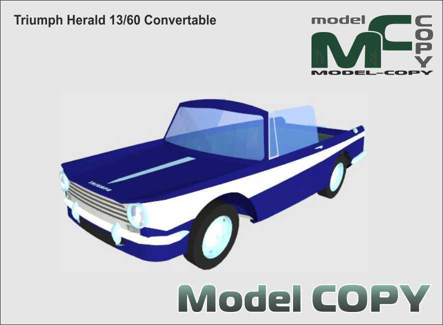 Triumph Herald 13/60 Convertable - 3D Model