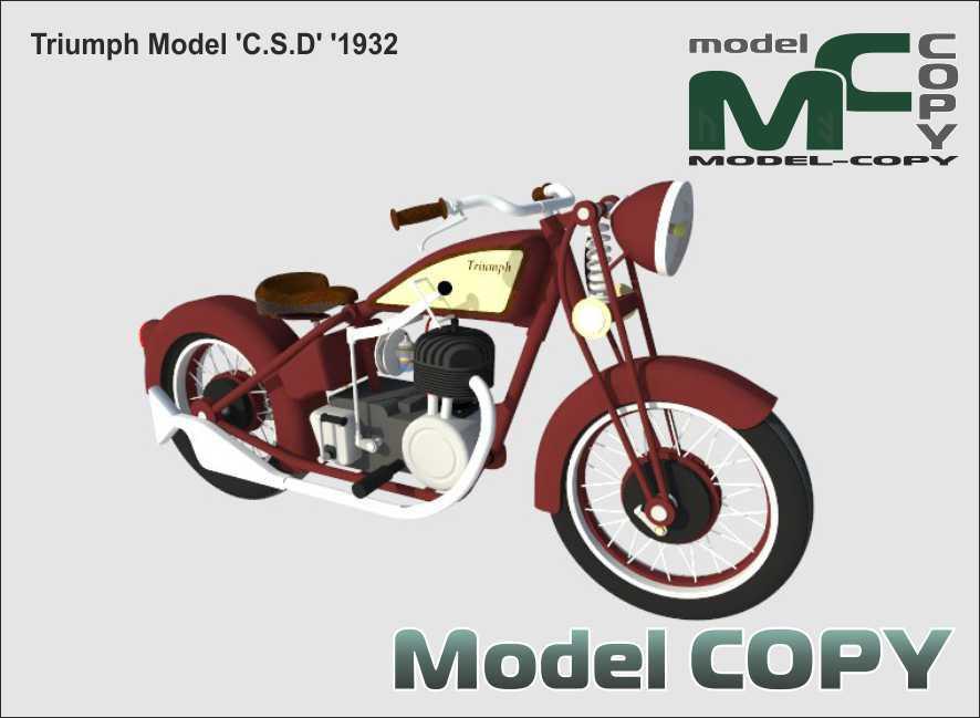 Triumph Model 'C.S.D' '1932 - 3D Model