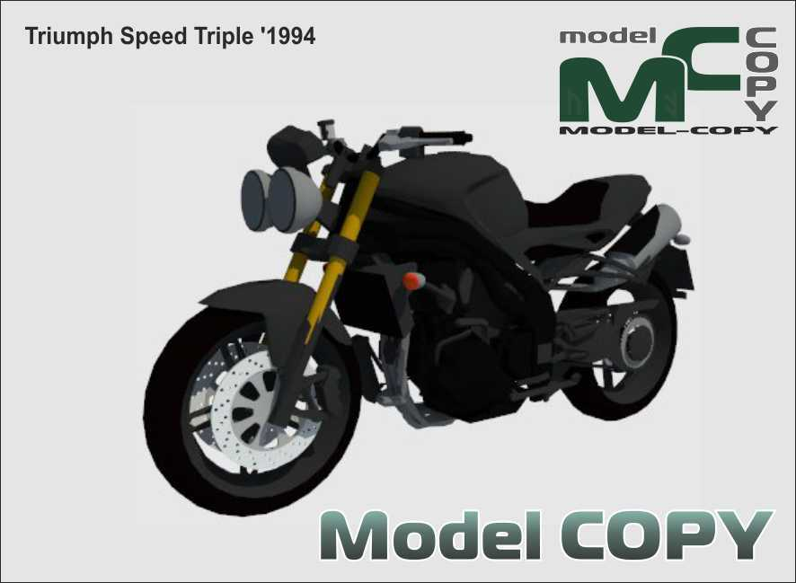 Triumph Speed Triple '1994 - 3D Model