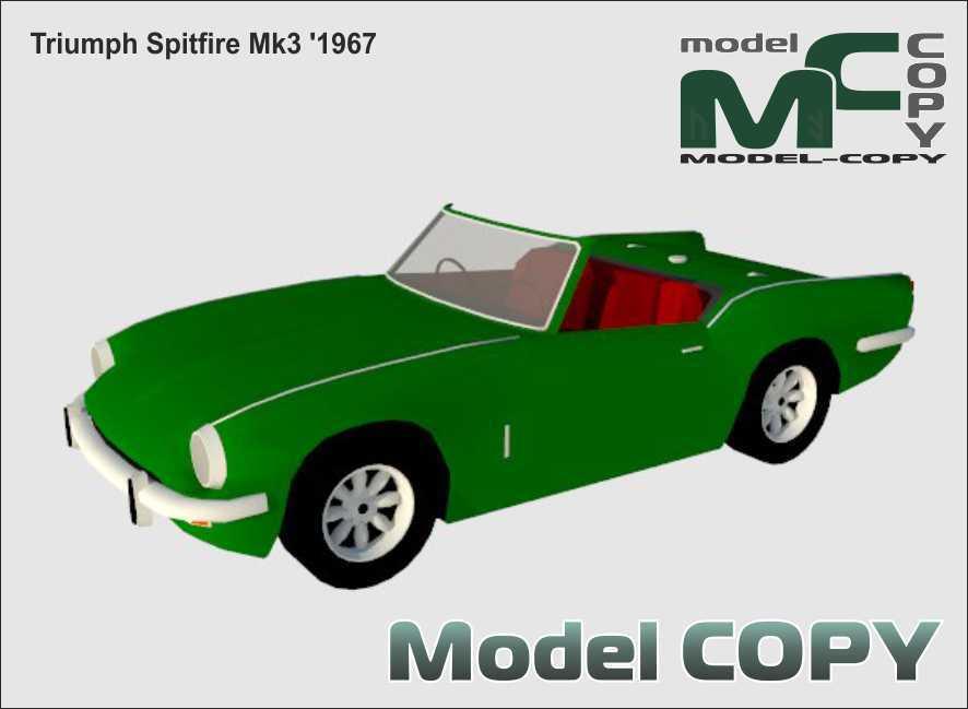 Triumph Spitfire Mk3 '1967 - 3D Model