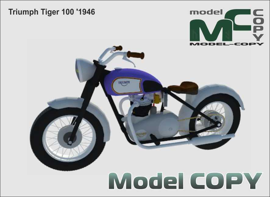 Triumph Tiger 100 '1946 - 3D Model