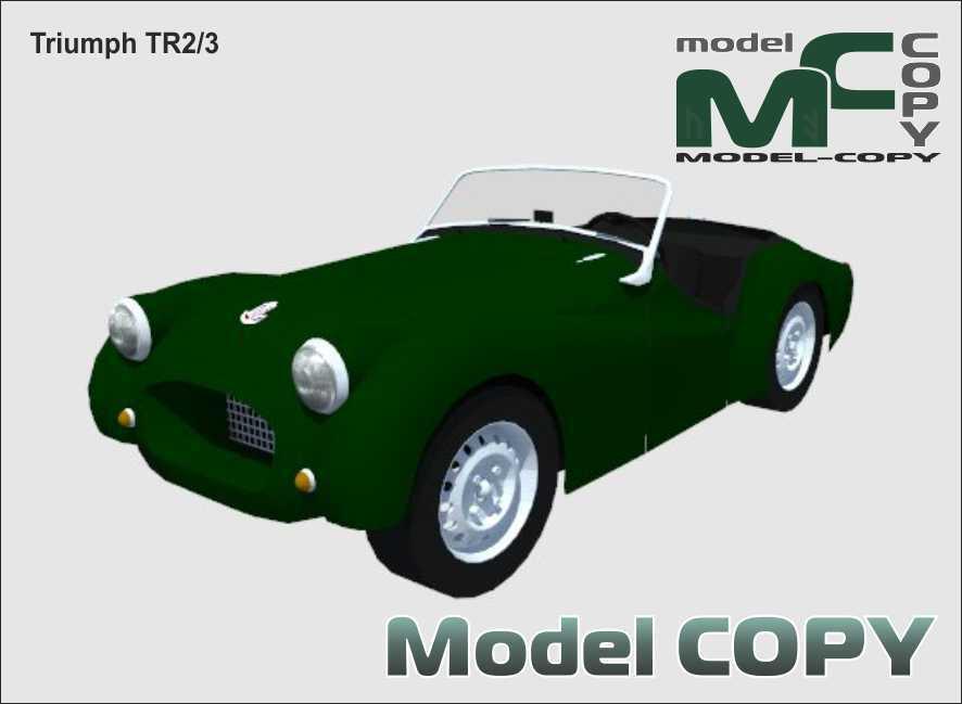 Triumph TR2/3 - 3D Model