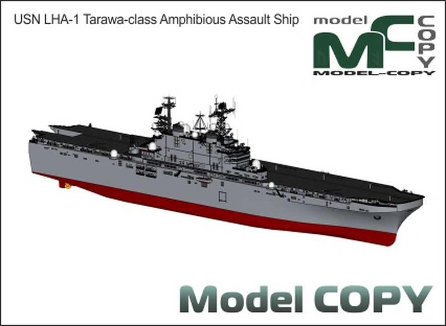 USN LHA-1 Tarawa-class Amphibious Assault Ship - 3D Model