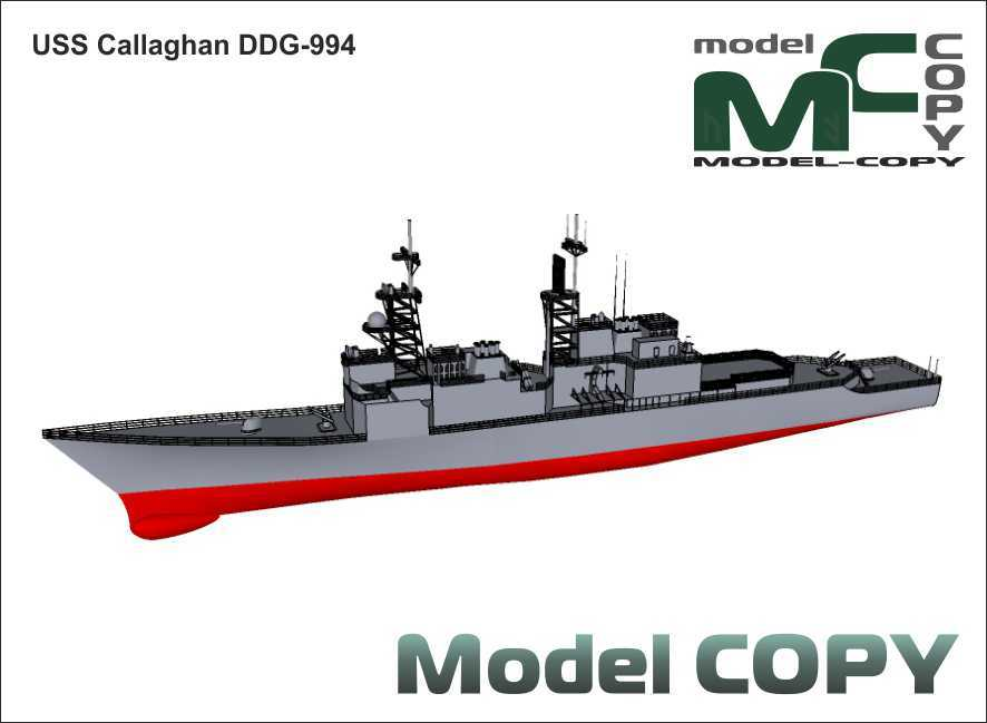 USS destroyer Callaghan DDG-994 - 3D Model