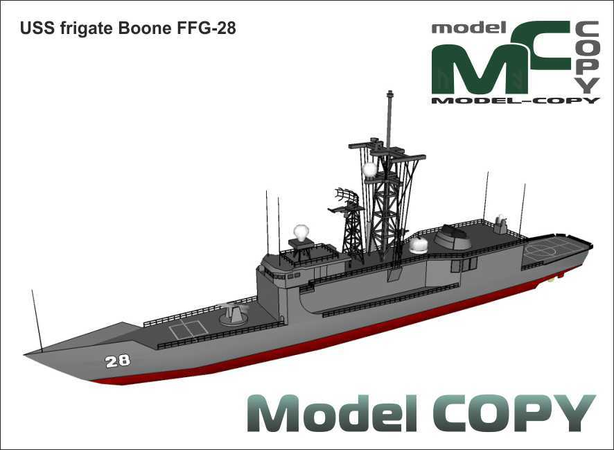 USS frigate Boone FFG-28 - 3D Model