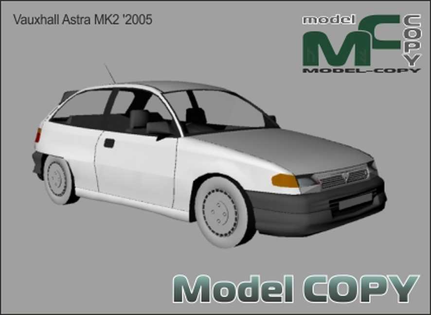 Vauxhall Astra MK2 '1984-1991 - 3D Model
