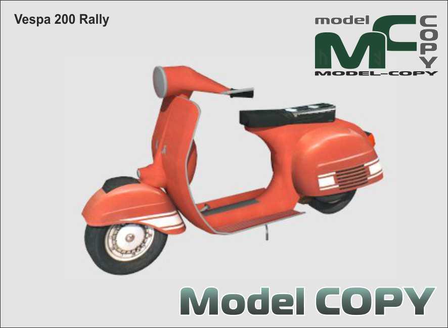 Vespa 200 Rally - 3D Model