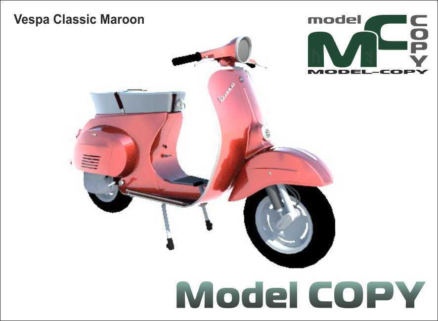 Vespa Classic Maroon - 3D Model